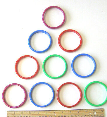 """12  3"""" LARGE DELUXE PLASTIC CANE RINGS TOSS THROW CARNIVAL PARTY CHILDS GAME POP"""