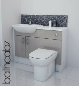 Latte Gloss Bathroom Fitted Furniture 1100mm Ebay