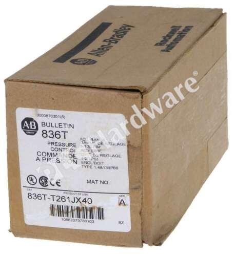 New Allen-Bradley 836T-T261JX40 /A T-Style Pressure Control 8-100 psi D.P.D.T.