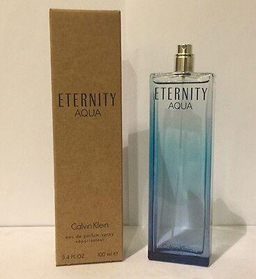 Eternity Aqua By Calvin Klein 3.4 Oz EDP SP Brand New Tester Perfume For Women