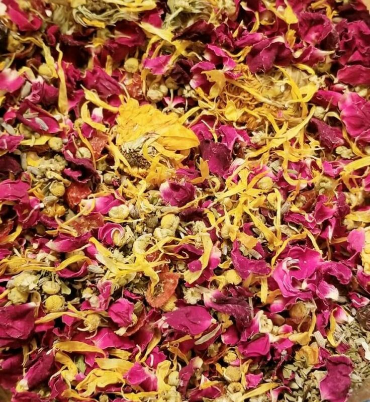 Dried Flowers, Dried Flower Mix, Dried Roses, Potpourri, Biodegradable Confetti