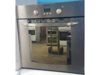 b34 silver indesit integrated single electric oven comes with warranty can be delivered or collected