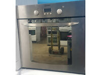 Co34 silver indesit integrated single electric oven comes with warranty can be delivered