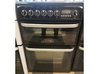 a491 black cannon 60cm ceramic hob double oven electric cooker comes with warranty can be delivered