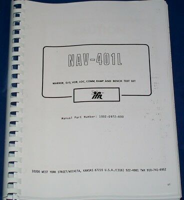 Aeroflex Ifr 401l Vor-ils-comm Ramp Test Set Operational Service Manual Copy