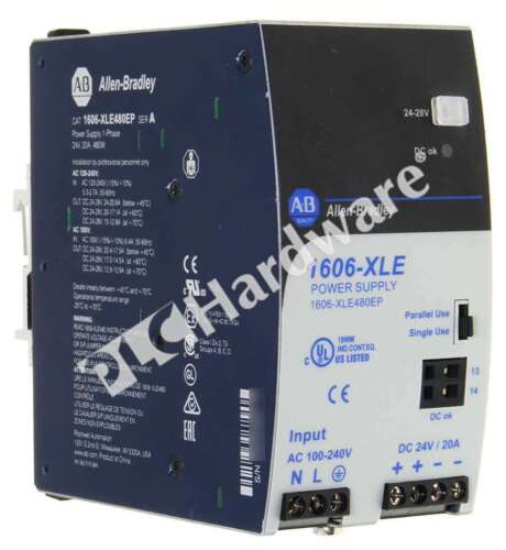Allen Bradley 1606-XLE480EP /A Essential Power Supply 120/240VAC In 24VDC Out