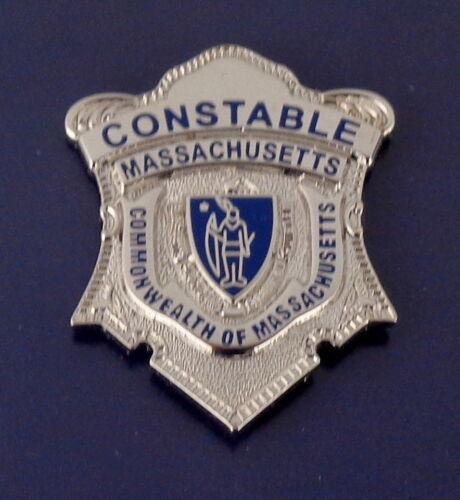 CONSTABLE Commonwealth of Massachusetts Silver mini badge Lapel Pin MA police