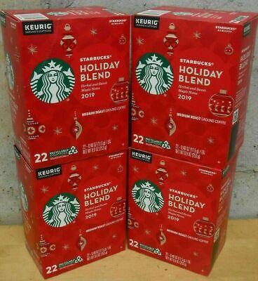 Starbucks Holiday Blend 2019 Coffee 88 Count (4x22) K Cups Keurig Pods 06JUN2020