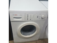 B129 white bosch 6kg 1400spin washing machine comes with warranty can be delivered or collected