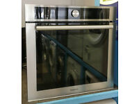 a711 stainless steel hotpoint single integrated electric oven new graded with 12 month warranty