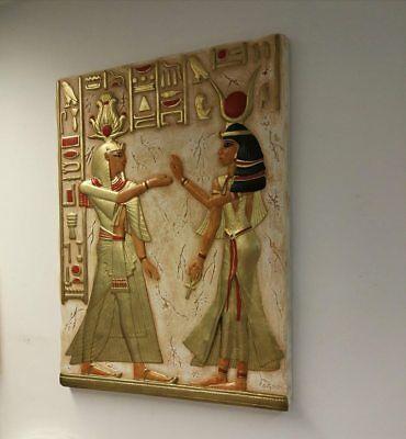 Relief Götter Ägypen Flachrelief Ägyptische Stuck gips Wandrelief Bilder Lux