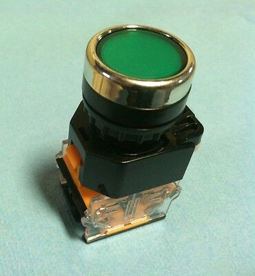 22MM Pushbutton Switch MAINTAINED Green 380V Max NO/NC 10A Contacts Latching