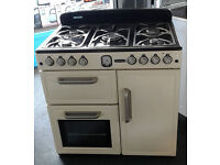 a014 cream leisure dual fuel range cooker comes with warranty can be delivered or collected