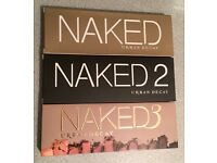 Urban Decay Naked Pallets 1, 2 & 3
