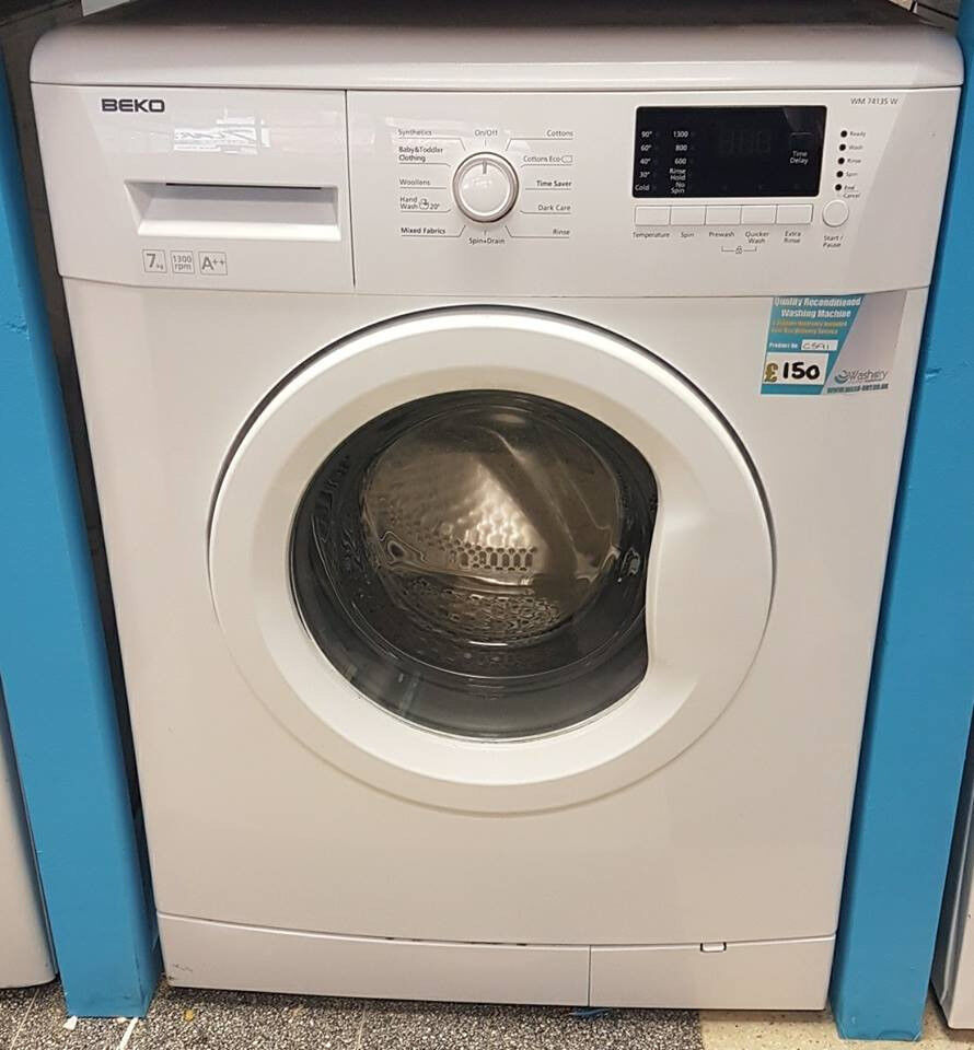 H591 white beko 7kg 1300spin washing machine comes with warranty can be delivered or collected