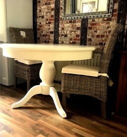 Wooden table white