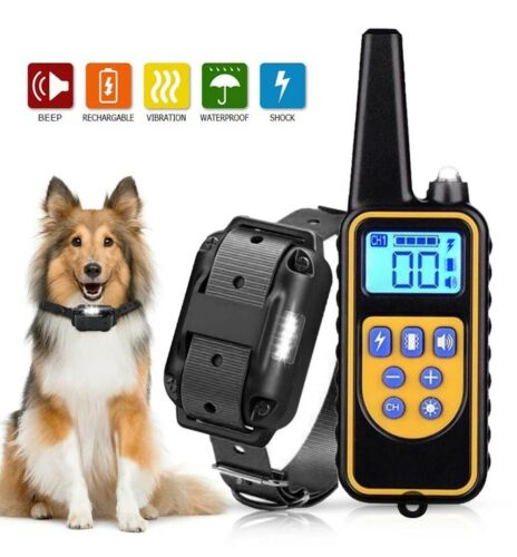 2600 FT Dog Training US Collar Rechargeable Remote Shock  PET Waterproof Trainer Bark Collars