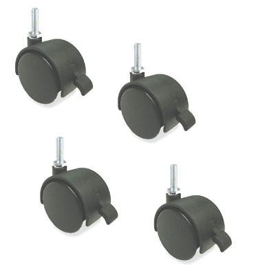 Set Of 4 Swivel 50mm Furniture Casters 38 X 1 Tall Stem Threaded Stem Brake