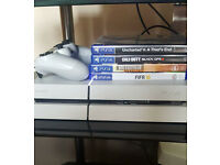 PS4 White 500GB Games and 2 wireless controllers