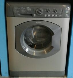 E360 graphite hotpoint 6kg 1600 spin washing machine with warranty can be delivered or collected