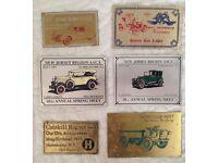 vintage metal car plates.