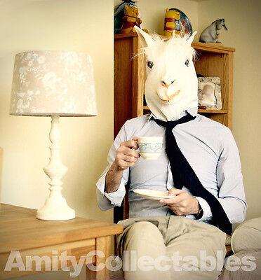LATEX LLAMA (Alpaca) MASK Full Head Animal Fancy Dress Halloween - Llama Halloween Mask