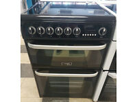a489 black cannon 60cm ceramic hob double oven electric cooker comes with warranty can be delivered
