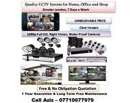 CCTV camera system full HD 1080p night vision water proof camera
