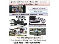cctv camera system installation (Greater London) Full HD 1080P night vision water proof camera
