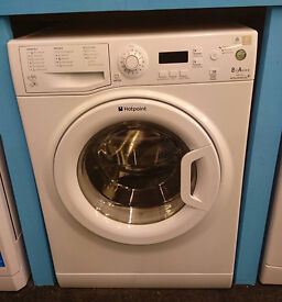j369 white hotpoint 8kg 1200 A***rated washing machine comes with warranty can be delivered