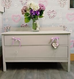 Stunning set of Oak Drawers finished in Dove Grey