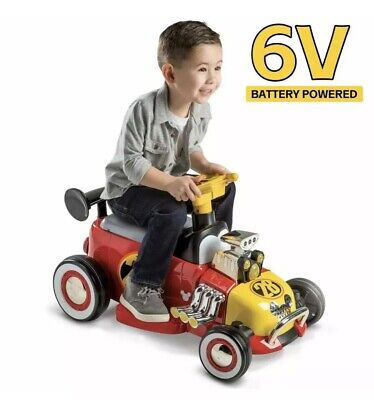 Disney Mickey Mouse Roadster Racer 6-Volt Battery Powered Ride On Power Huffy (Mickey Mouse Battery Powered Ride On Toy)