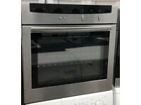 E672 stainless steel neff single electric oven comes with warranty can be delivered or collected