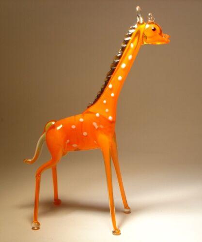 Blown Glass Art Figurine Wild Animal GIRAFFE Standing