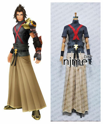 Kingdom Hearts Terra Cosplay Costume Outfit Pants Gloves Belt - Kingdom Costumes