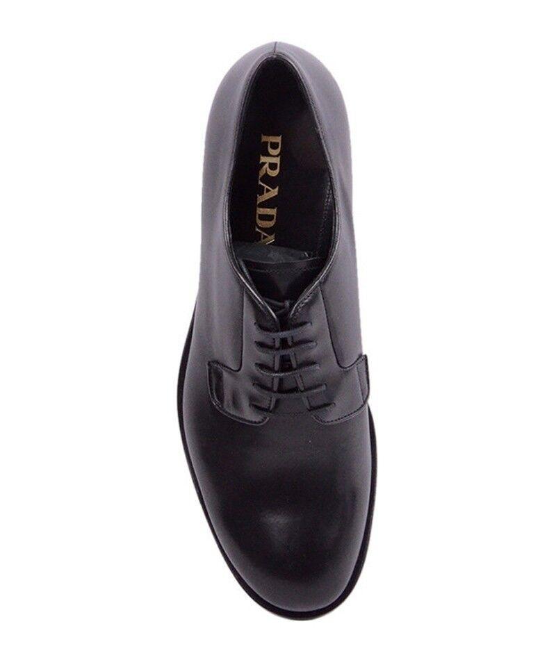 c35bd90c48bd Prada Bright Black Calf Skin Leather Shoes Size 6