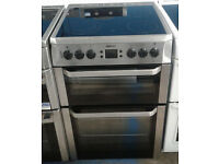 b681 stainless steel beko 60cm double oven ceramic hob electric cooker comes with warranty