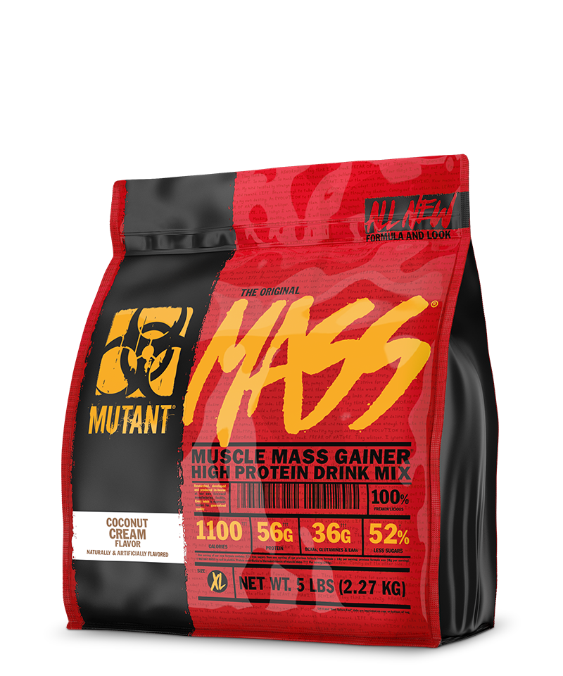 Mutant Mass 5 Lb Enhanced Muscle Mass Gainer Supplement
