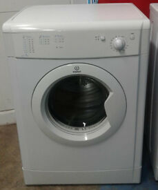 K358 white indesit 7kg vented dryer comes with warranty can be delivered or collected