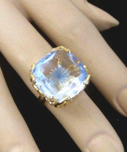Vintage EMMONS Ring Blue Starburst adjustable