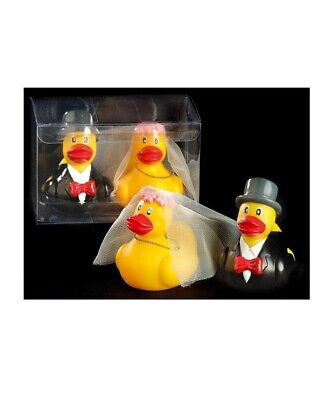 Mr and Mrs Duck Gift Set Box Hen Party Wedding Gift Rubber Ducks Bride & Groom - Bride And Groom Rubber Ducks