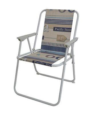 Sedia pieghevole da spiaggia con braccioli sedia campeggi piscina fantasia ocean