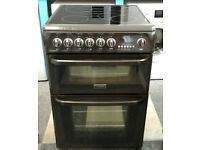 a205 brown cannon 60cm double oven ceramic hob electric cooker comes with warranty can be delivered
