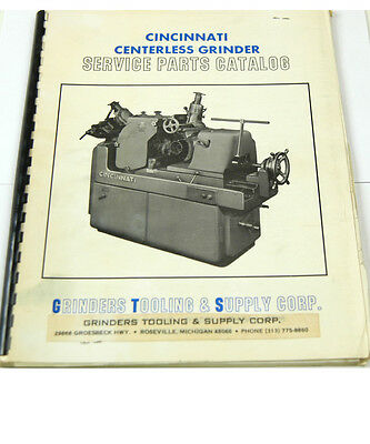 Cincinnati Centerless Grinder Service Parts Catalog W-4-box 9-7-rct