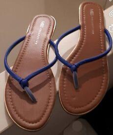 M&S Blue Sandals - Brand New