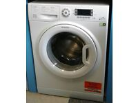 g252 NEW white hotpoint 8kg 1400 spin washing machine comes with warranty can be delivered or coll