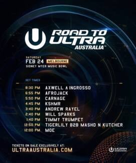 2 x VIP Road To Ultra Australia Ticket