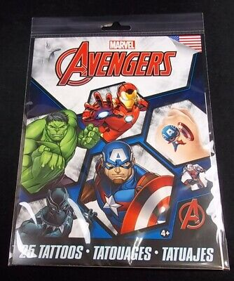 Savvi Marvel Avengers 25 temporary tattoos pack Made - Avengers Tattoo