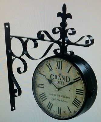 Grand Hotel Railway Station Clocks 16H x 13.5L x 3W x 9.5 Face