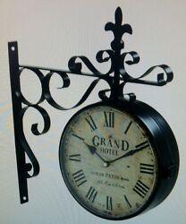 Grand Hotel Railway Station Clocks 16H x 13.5L x 3W x 9.5 Face